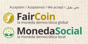 Acceptem FairCoin i MonedaSocial